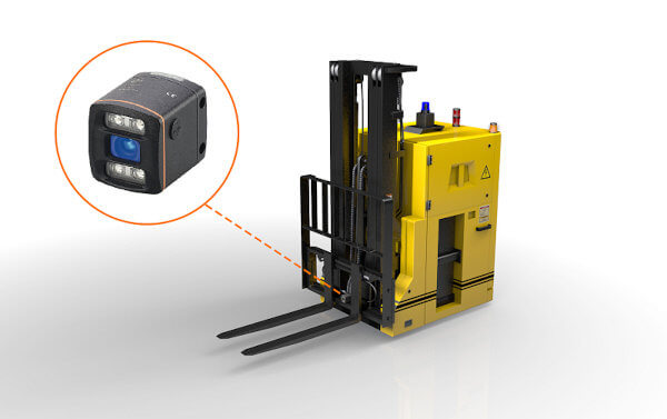 The 3D camera, on the basis of PMD technology, detects scenes and objects at a glance in three dimensions.